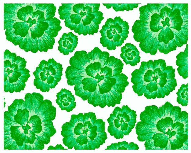 Pistia stratiotes 또는 물 양배추 식물 패턴의 그림