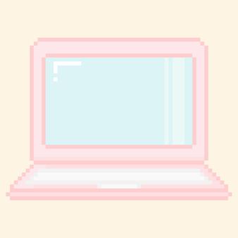 ピクセル化されたノートパソコンの画面のイラスト