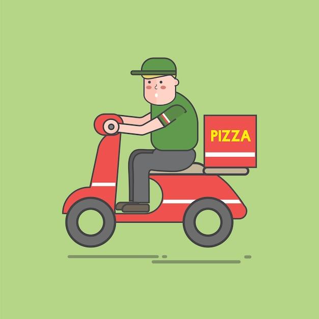 피자 벡터 세트의 그림