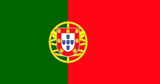 ポルトガルの旗のイラスト