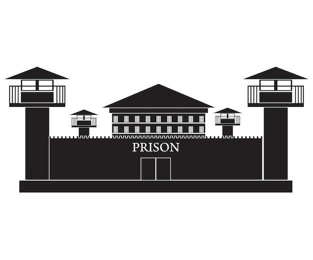 감옥 건물의 그림