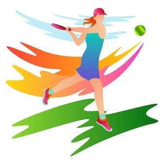 국제 대회에서 경쟁하는 프로 테니스 선수의 그림