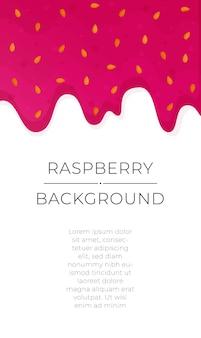 달콤한 빨간 잼 튄 딸기 떨어지는 라즈베리 잼 배경 그림