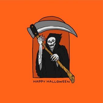 Иллюстрация жнец хэллоуин