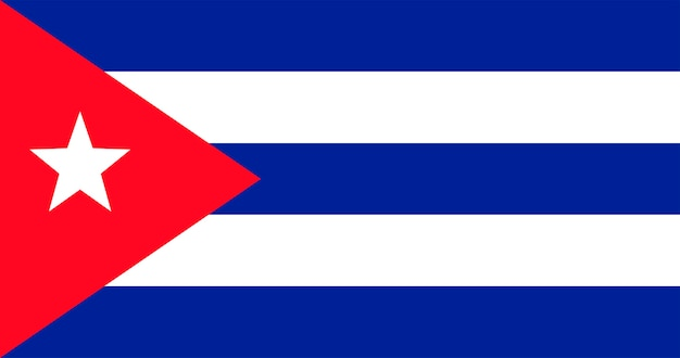 キューバ共和国の国旗のイラスト