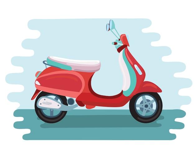 Иллюстрация ретро скутер изолированные