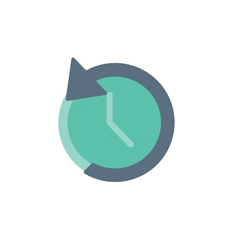 Illustration of reverse clock icon