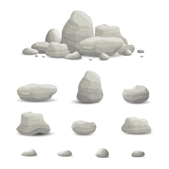 Illustration of Rock and Stone set