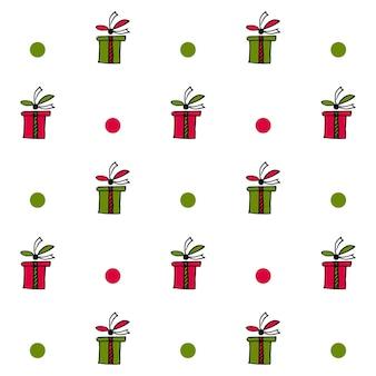 현재 상자와 동그라미와 원활한 패턴의 그림