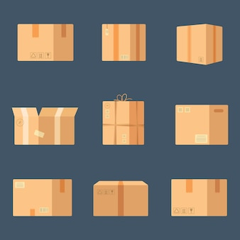 Иллюстрация наборных коробок.