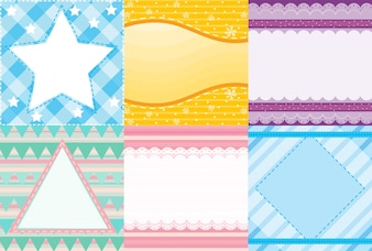 Illustration of six different patterns of background