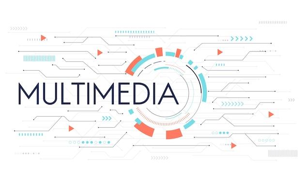 소셜 미디어 개념의 삽화
