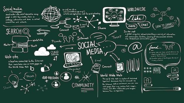 ソーシャルメディアコンセプトのイラスト