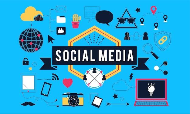 Иллюстрация концепции социальных сетей