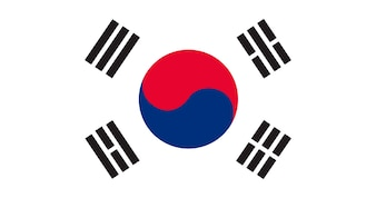 Illustration of South Korea flag