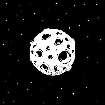 宇宙惑星のイラスト。
