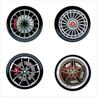 스포츠카 바퀴의 그림