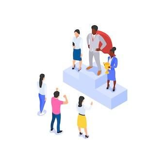 Иллюстрация успешной совместной работы творческих людей.