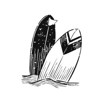 Иллюстрация летнего и пляжного объекта