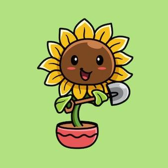 太陽の花のイラスト