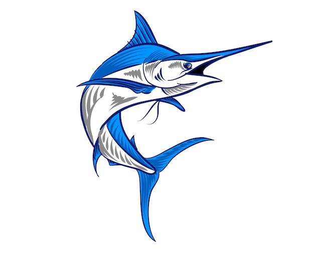 Иллюстрация swordfish для логотипа и элемента брендинга