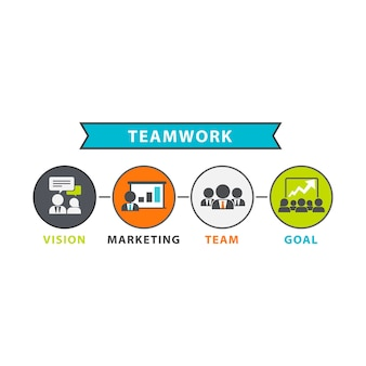 Illustration of teamwork