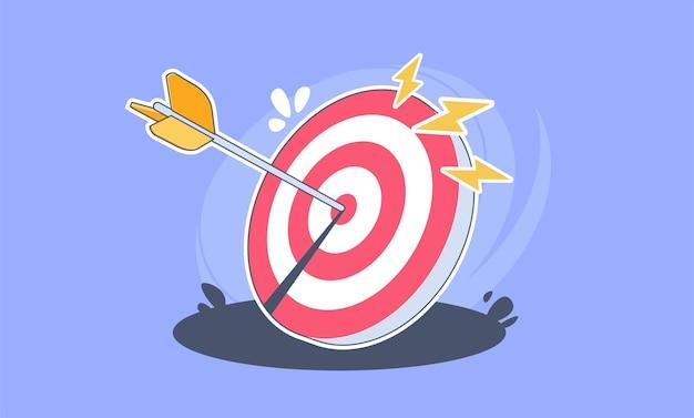 Иллюстрация стрелки точно на цели