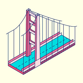 미국에서 골든 게이트 브리지 샌프란시스코의 그림
