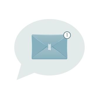 電子通信用の新しい電子メールアイコンのイラスト