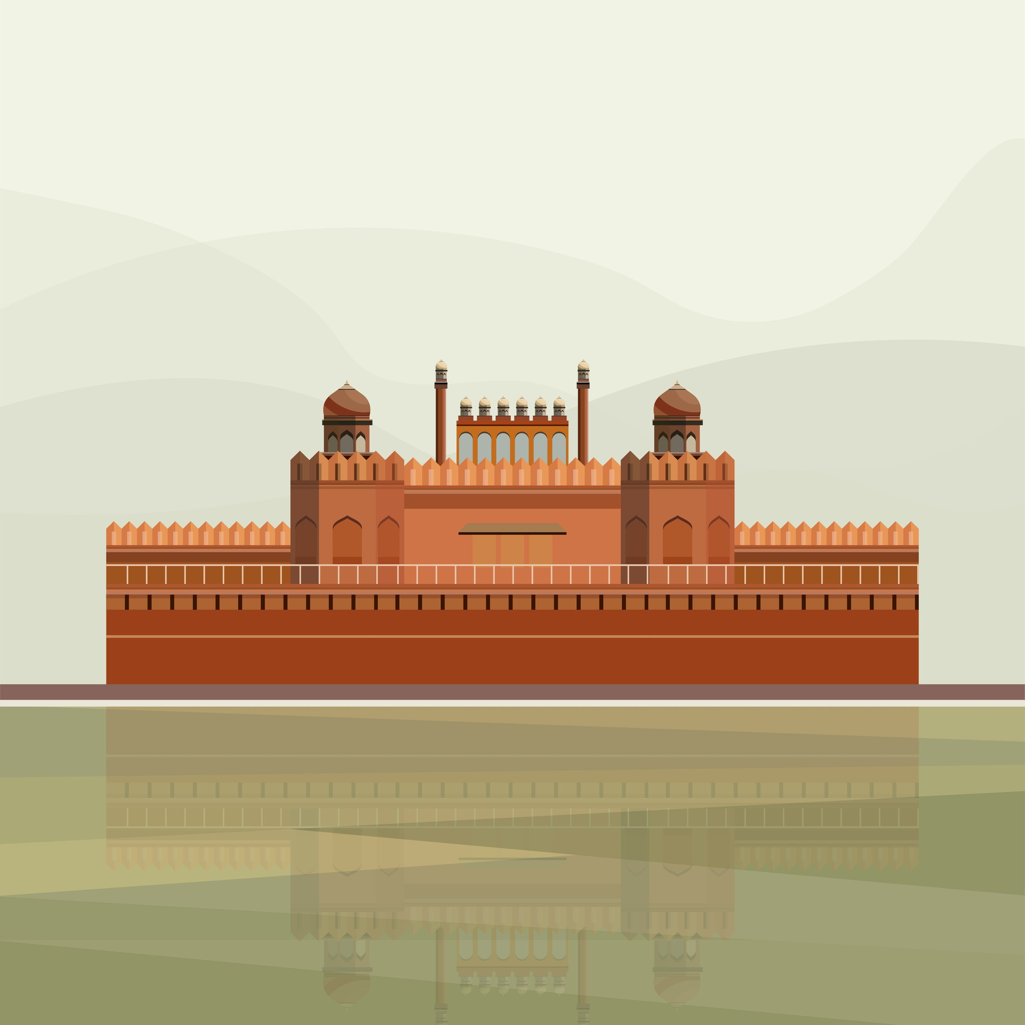 Illustration of The Red Fort