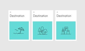 Illustration of travel concept