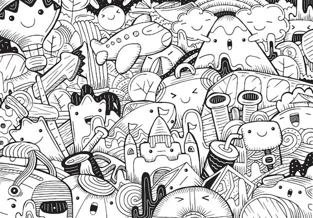 Иллюстрация путешествия в мультяшном стиле