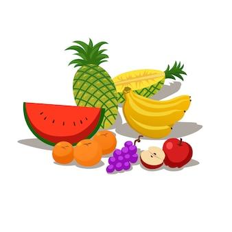Иллюстрация тропических фруктов