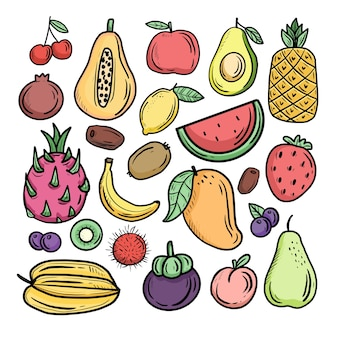 열대 과일의 그림