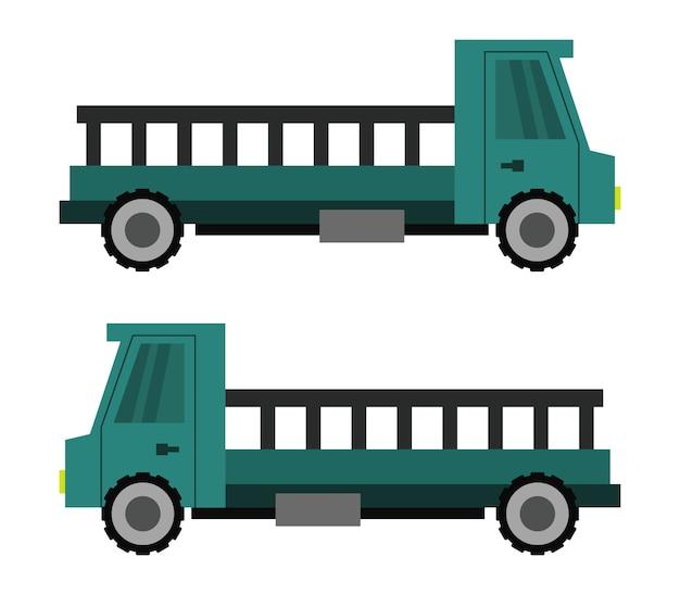 Иллюстрация грузовых автомобилей