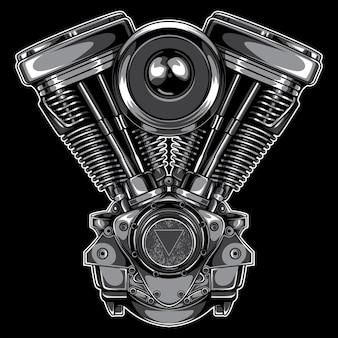 ツインモーターエンジンのイラスト