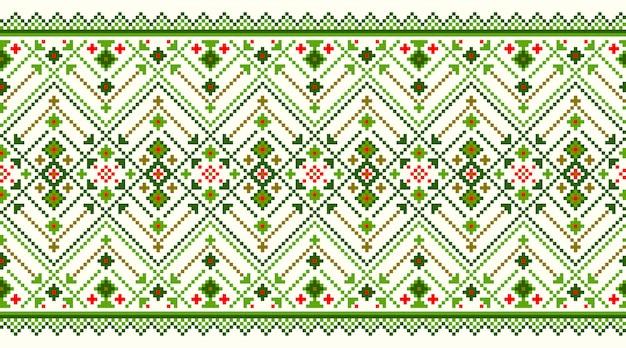 ウクライナの民俗のシームレスパターン飾りのイラスト。