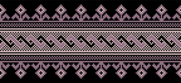 Иллюстрация украинского народного орнамента бесшовные модели.