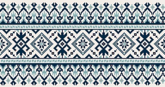 ウクライナの民謡のシームレスなパターンの飾りのイラスト。