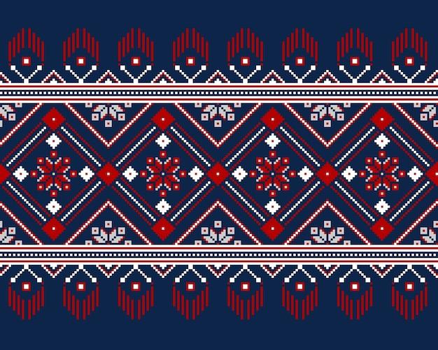Иллюстрация украинского народного бесшовного орнамента