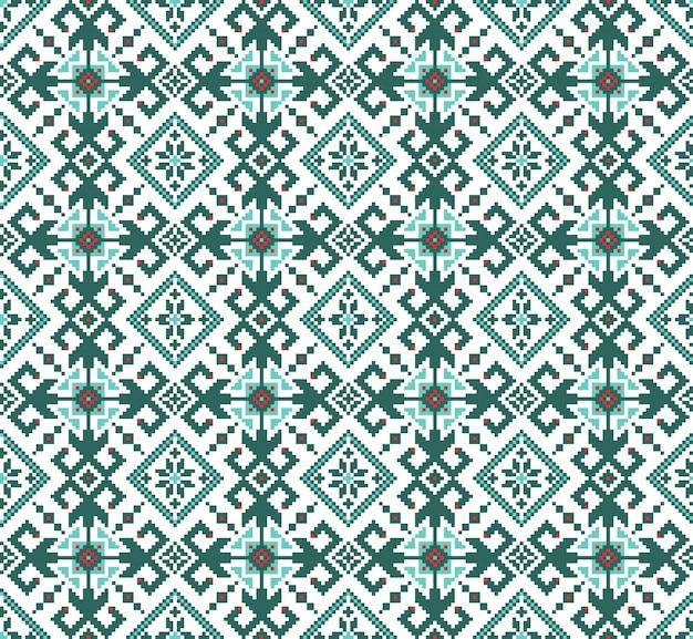 ウクライナの人々のシームレスなパターンの装飾のイラスト