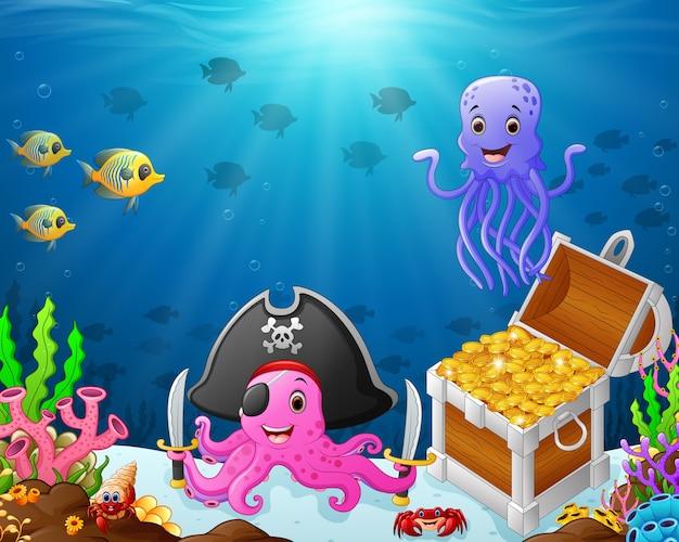 바다 밑의 그림