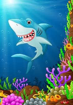 Иллюстрация под морем