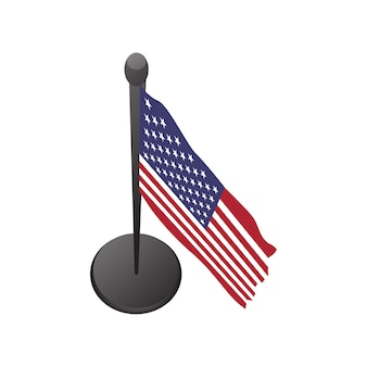 Illustration of USA flag vector