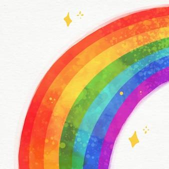 Иллюстрация яркой акварельной радуги