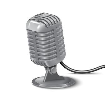 Иллюстрация старинного микрофона