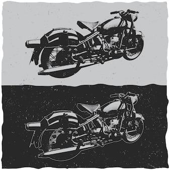 빈티지 오토바이의 그림
