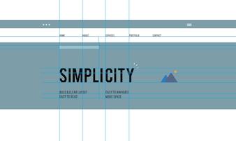 Illustration of web design template
