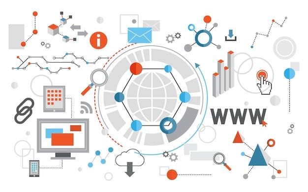 웹 디자인의 일러스트 레이션