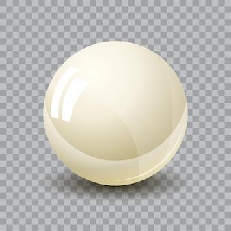 透明な背景、現実的なベクトルに分離された白い3d球のイラスト